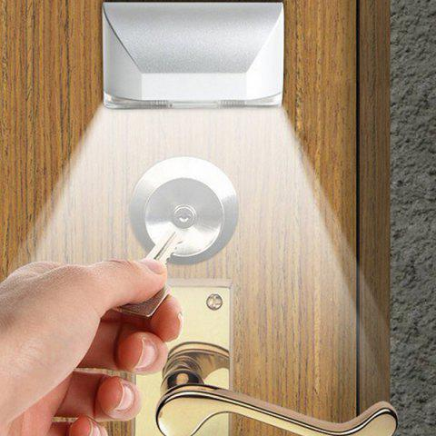 Auto Door Lock Lamp Smart Sensor LED Night Light - WHITE