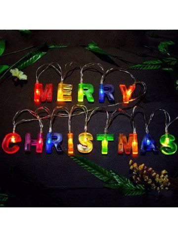 led merry christmas letters shape decorations string lights