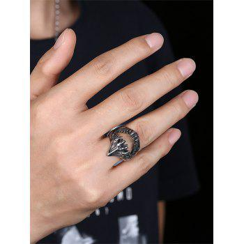Gothic Style Teeth Decorated Stainless Steel Biker Ring - SILVER 8