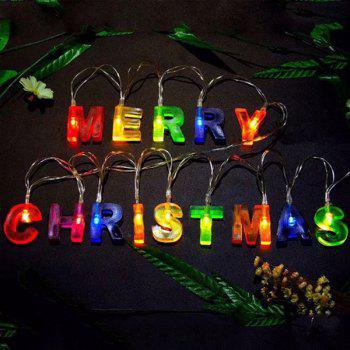 LED Merry Christmas Letters Shape Decorations String Lights - COLORFUL COLORFUL