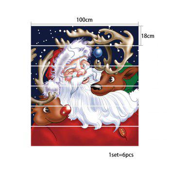 Christmas Santa Deers Pattern Stair Stickers - COLORMIX 100*18CM*6PCS