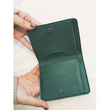 Cactus Embroidery Bi Fold Wallet -  GREEN