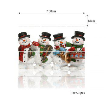 Christmas Snowmen Band Pattern Stair Stickers - WHITE 100*18CM*6PCS