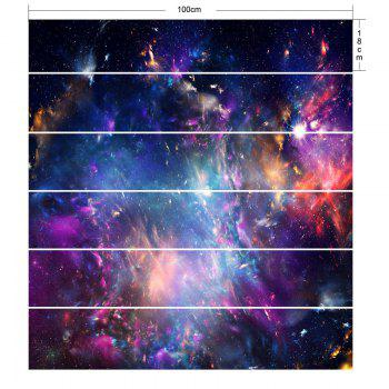 Home Decorative Galaxy Print DIY Stair Stickers - STARRY SKY PATTERN 100*18CM*6PCS