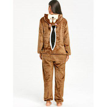 Funny Chipmunk Animal Onesie Pajama for Adult - LIGHT BROWN XL