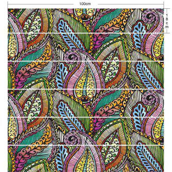 Bohemian Colorful Plant Printed DIY Decorative Stair Stickers - COLORFUL COLORFUL
