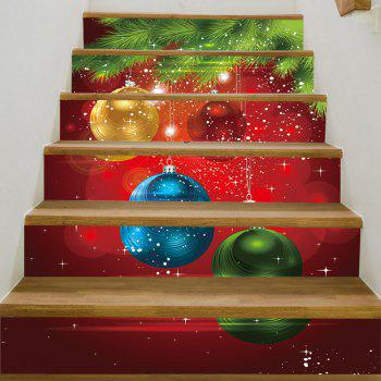 Christmas Pine Baubles Pattern Stair Stickers - COLORMIX COLORMIX