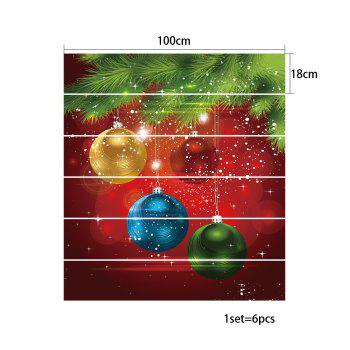 Christmas Pine Baubles Pattern Stair Stickers - COLORMIX 100*18CM*6PCS