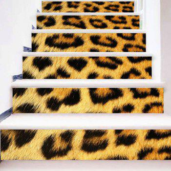 Home Decor Leopard Print DIY Stair Stickers - LEOPARD PRINT PATTERN LEOPARD PRINT PATTERN