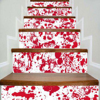Bloodstain and Skull Printed Decorative DIY Stair Stickers - RED AND WHITE RED/WHITE