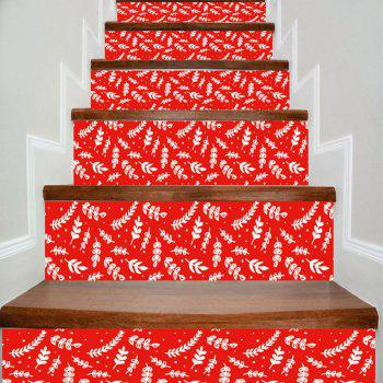 Home Decorative Plant Pattern DIY Stair Stickers - RED RED