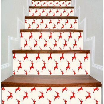Christmas Deer Printed DIY Decorative Stair Stickers - COLORMIX COLORMIX