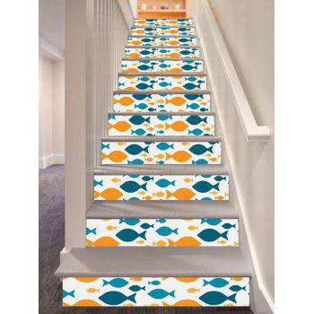 Home Decor Fish Print DIY Stair Stickers - COLORMIX COLORMIX