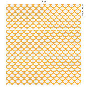Fish Scales Print Decorative DIY Stair Stickers - WHITE/YELLOW 100*18CM*6PCS