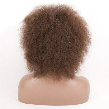 Fluffy Short Afro Curly Synthetic Wig - DEEP BROWN