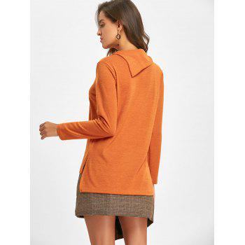 2018 High Low Cowl Neck Sweater ORANGE S In Sweaters & Cardigans ...