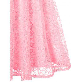 Sleeveless Lace 50s Swing Dress - PINK PINK