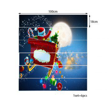 Christmas Night Sleigh Pattern Stair Stickers - COLORMIX 100*18CM*6PCS