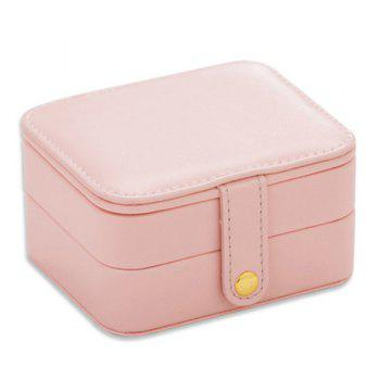 Two Layers Jewelry Case and Display Organize Storage Box - PINK PINK