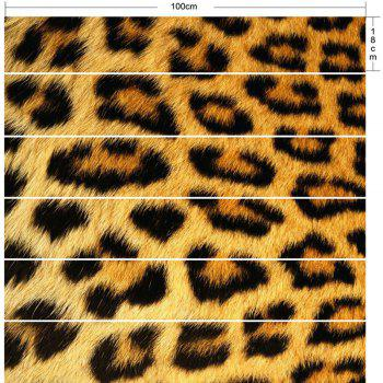 Home Decor Leopard Print DIY Stair Stickers - LEOPARD PRINT PATTERN 100*18CM*6PCS