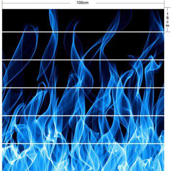 Blue Flame Print Home Decor DIY Stair Stickers - BLUE/BLACK 100*18CM*6PCS