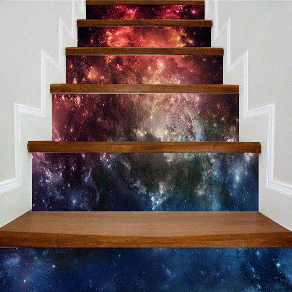 Galaxy Pattern Home Decorations DIY Stair Stickers - STARRY SKY PATTERN 100*18CM*6PCS