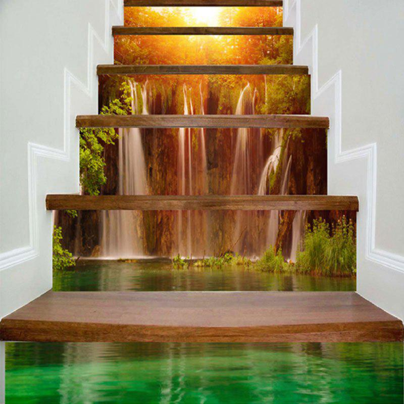 Natural Scenery Pattern DIY Decorative Stair Stickers - COLORMIX 100*18CM*6PCS