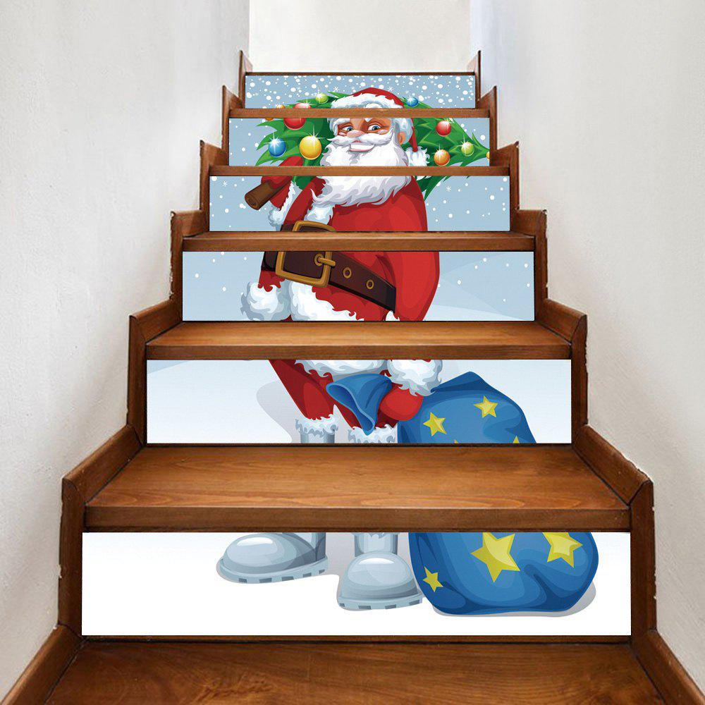 2018 stickers d 39 escalier de santa christmas tree. Black Bedroom Furniture Sets. Home Design Ideas