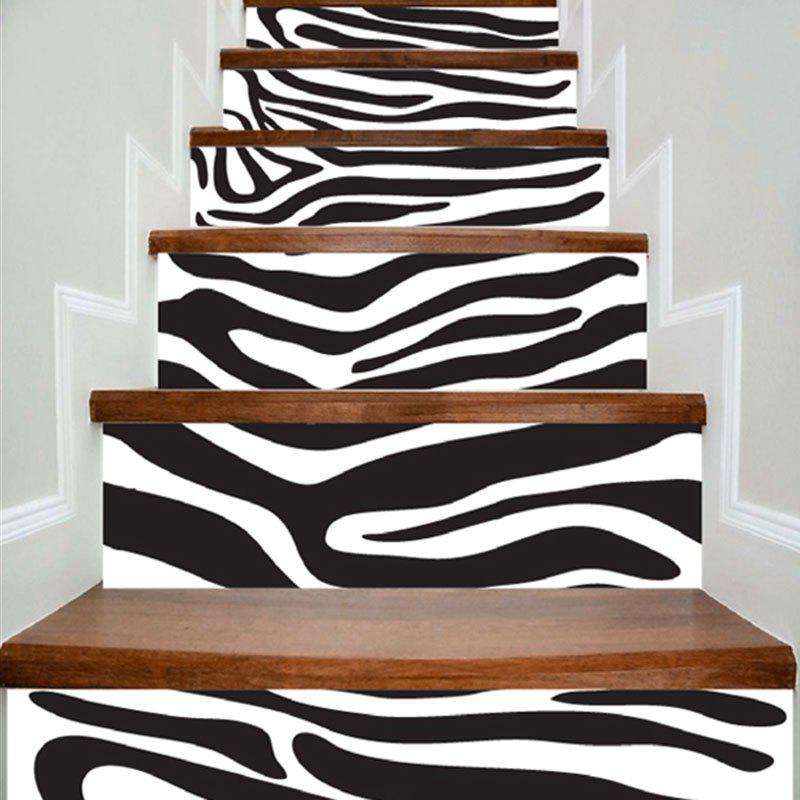 Zebra Stripes Decorative DIY Stair Stickers - ZEBRA STRIPE 100*18CM*6PCS