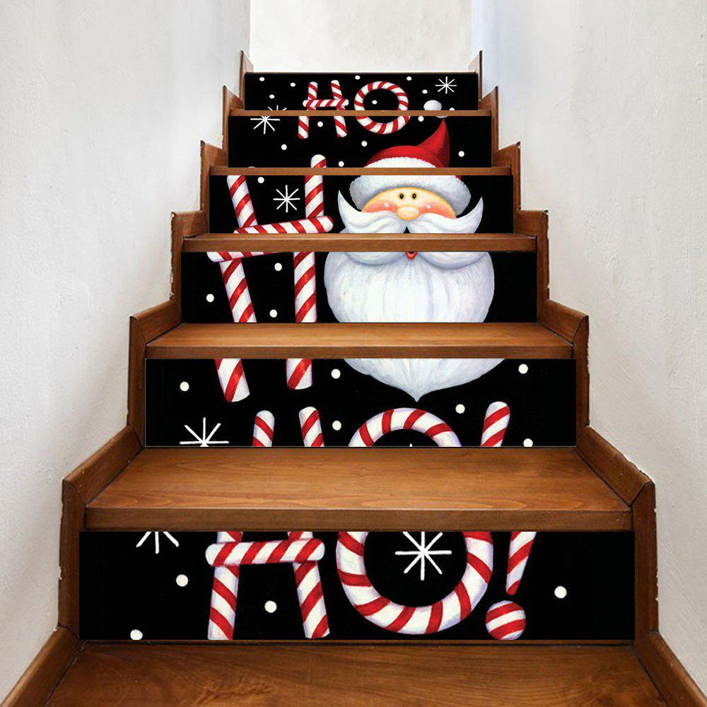 1893 Best Christmas On The Stairs Images On Pinterest: 2018 Cartoon Santa Claus Print 6 Pieces Home Stairs