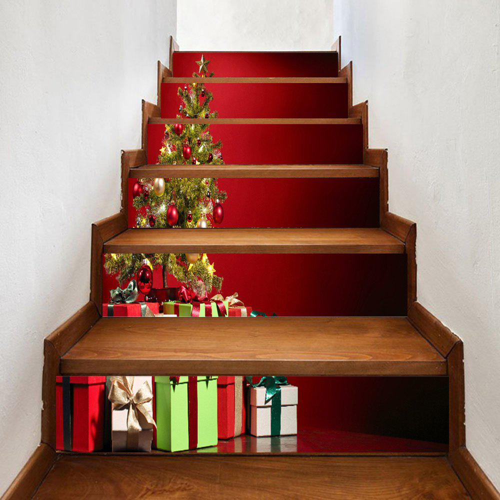 1893 Best Christmas On The Stairs Images On Pinterest: 2018 Christmas Tree Print 6 Pieces Home Stairs Stickers