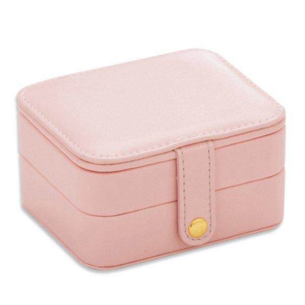 Two Layers Jewelry Case and Display Organize Storage Box - PINK