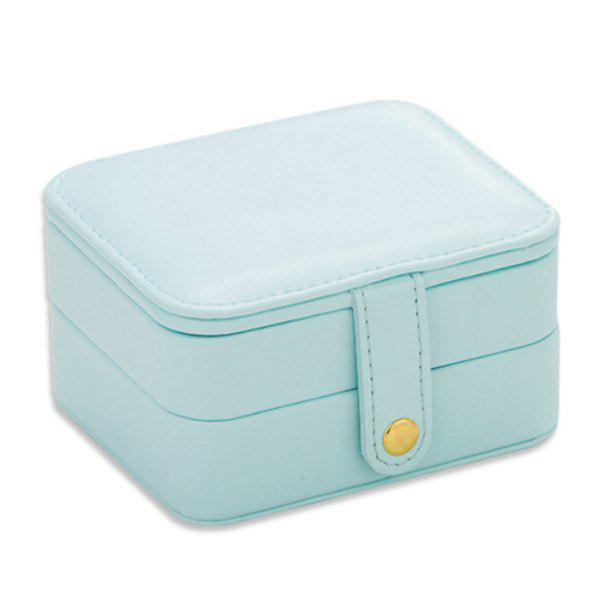 Two Layers Jewelry Case and Display Organize Storage Box - LIGHT BLUE