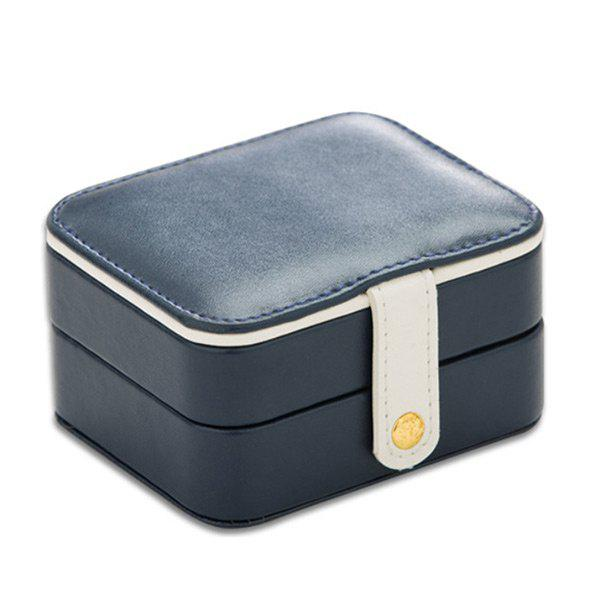 Two Layers Jewelry Case and Display Organize Storage Box - CERULEAN