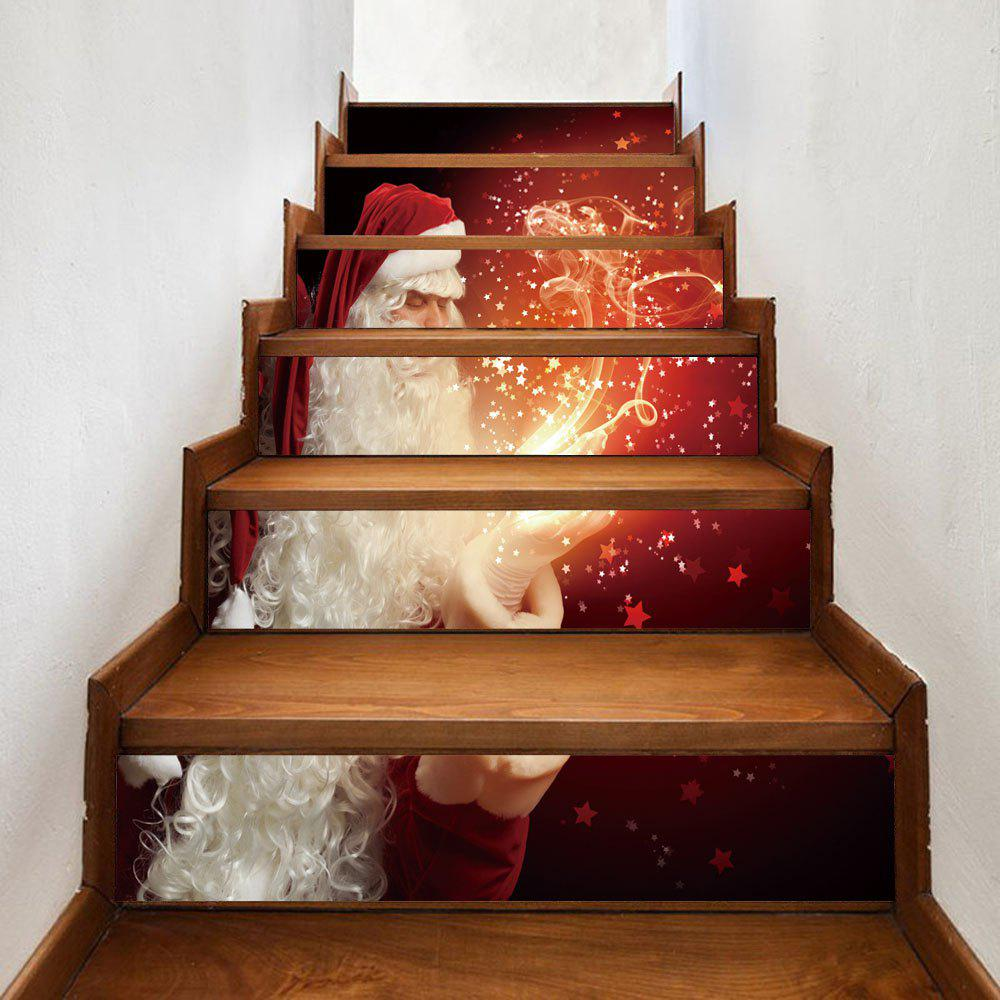 Christmas Santa Magic Pattern Stair Stickers new arrival indoor outdoor large children s house game room children s toys 3 in 1 square crawl tunnel folding kid play tent
