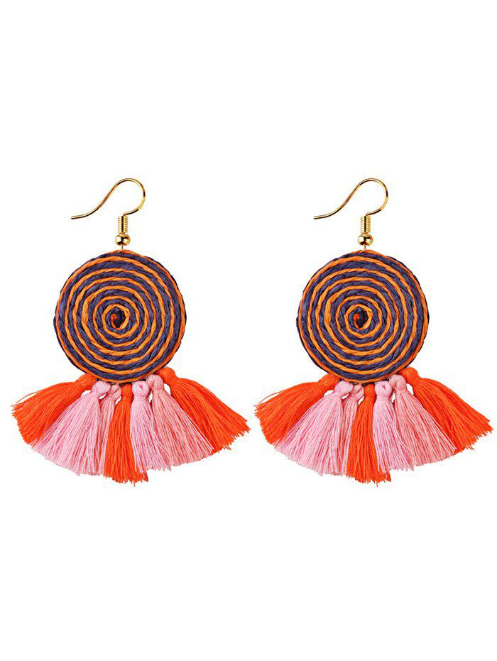 Lollipop Tassel Hook Drop Earrings stand collar checked vest