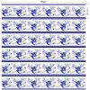 Flower Print DIY Home Decorative Stair Stickers - BLUE/WHITE 100*18CM*6PCS