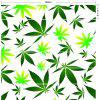 Maple Leaf Decorative Stair Stickers - GREEN 100*18CM*6PCS