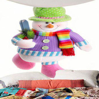 Colorful Snowman Printed Waterproof Wall Hanging Tapestry - COLORFUL W59 INCH * L59 INCH