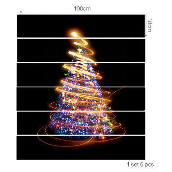 Fantasy Christmas Stars Tree Pattern Stair Stickers - COLORFUL 100*18CM*6PCS