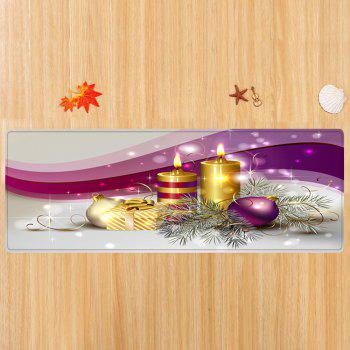 Christmas Balls Candles Pattern Indoor Outdoor Area Rug - COLORMIX W16 INCH * L47 INCH