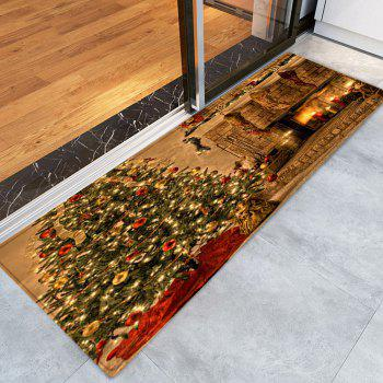 Christmas Tree Fireplace Pattern Anti-skid Indoor Outdoor Area Rug - COLORMIX W24 INCH * L71 INCH