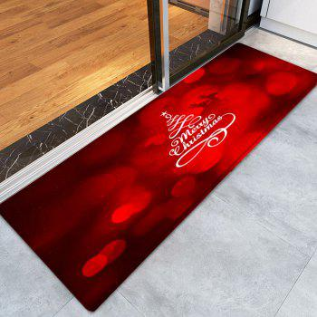 Christmas Deers Letters Pattern Indoor Outdoor Area Rug - RED W24 INCH * L71 INCH