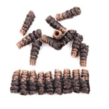 Short Crochet CurlKalon Curly Synthetic Hair Wefts - LIGHT BROWN