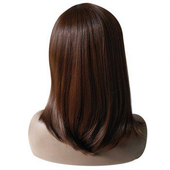 Medium Side Part Natural Straight Synthetic Wig -  BROWN