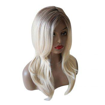 Long Colormix Side Parting Wavy Synthetic Wig - COLORMIX