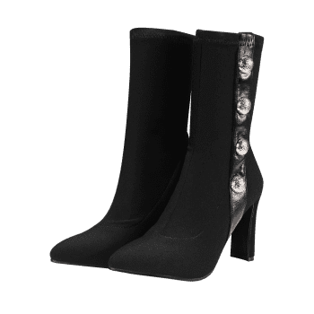 Talon stiletto Faux Gem Bottines - Noir 40