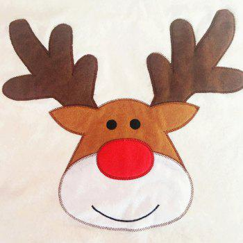 Christmas Elk Embroidered 1PCS Nonwoven Chair Cover - BEIGE BEIGE