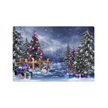 Christmas Trees Gifts Pattern Indoor Outdoor Area Rug - COLORMIX W16 INCH * L24 INCH