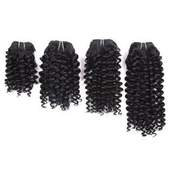 Short Toni Curly Synthetic 4 Pieces Hair Weaves - BLACK BLACK